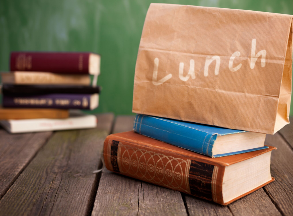 Books and lunch bag